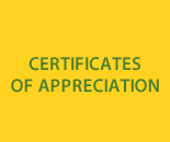 Certificates of Appreciation