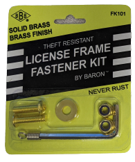 Brass Lic Fr Fastener Kit