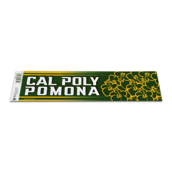 Decal Cal Poly Pomona W/Hibiscus