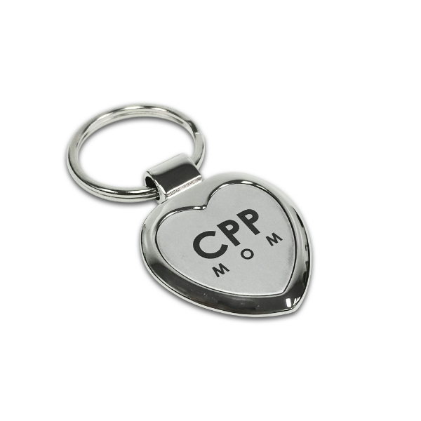"Mom Key Chain Small ""Cpp Mom"" Heart Shaped"