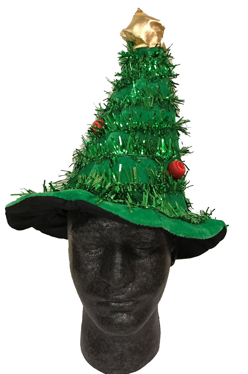 Holiday Hat Christmas Tree Green W/ Garland