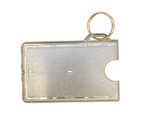ID Holder With Key Ring Green