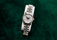 Rolled Link Ladies Watch Silver