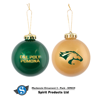Holiday Ornament Green/Gold 2Pk