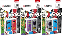 EMTEC Superheros 16 GB Flash Drive 2 PK
