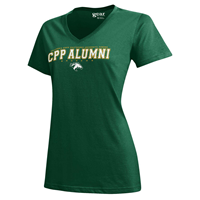 Alumni Tee Full Spell V-Neck Field Green