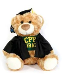 Grad Bear Fred W/ Black Cap & Gown
