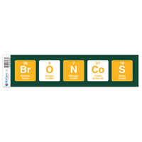 Bumper Strip Periodic Table Broncos