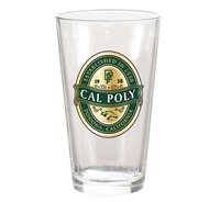 Pint Glass Honors Clear Metallic Gold