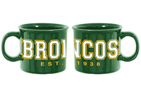 Mug Camp Site Broncos Est 1938 Green
