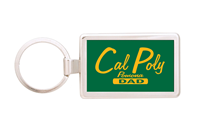 Dad Key Chain Rectangle Silver