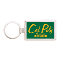 Key Chain Broncos Rectangle Silver