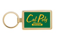 Mom Key Chain Rectangle Gold