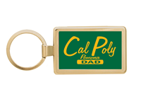 Dad Key Chain Rectangle Gold