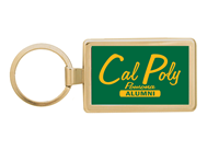 Alumni Key Chain Rectangle Gold