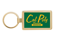 Key Chain Broncos Rectangle Gold