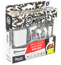 Wicked Audio Bluetooth Receiver & Earbuds Combo White