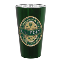 Pint Glass Honors Iridescent Metallic 16 Oz