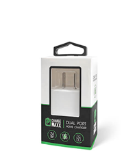 EMOBII HOME CHARGER DUAL PORT 2.1amp - WHITE