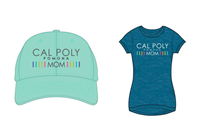 Mom Combo Hat/T-Shirt Tan Cap/Aqua Shirt
