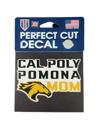 Mom Decal Perfect-Cut Cal Poly Ovr Pomona W/Horse Head
