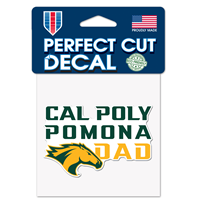 Dad Decal Perfect-Cut Cal Poly Ovr Pomona W/Horse Head