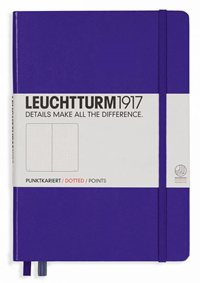 Notebook Medium Hardcover Dotted Purple