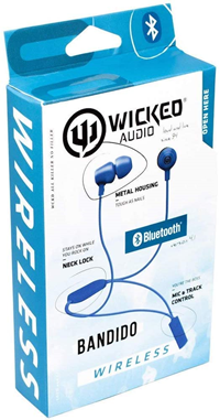 WICKED AUDIO BANDIDO BLUETOOTH EARBUD - BLUE