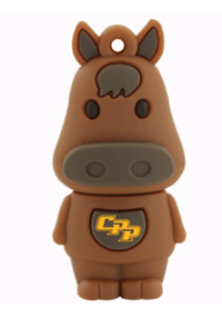 Flash Drive 8Gb Bronco Character W/Cpp Logo