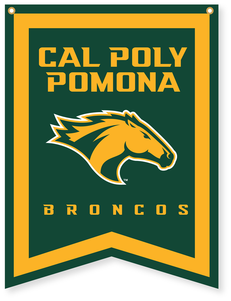 Banner Cal Poly Pomona W/Horse Head Reversed Arrow Shapped Bottom (SKU 123397851009)