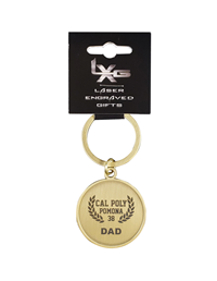 Dad Key Tag CPP Contemporary Round Gold