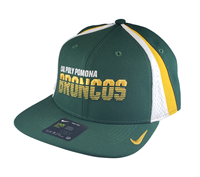 Nike Cap Sideline Pro Cal Poly Pomona Over Broncos Gorge Green