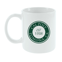 Mug Cafe Cal Poly Wrap Centered Est White
