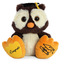 Grad Plush Taddle Toes Owl 10""