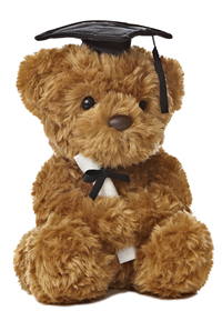 Grad Plush Wagner Bear Black 8.5""