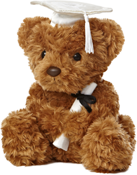 Grad Plush Wagner Bear White 8.5""