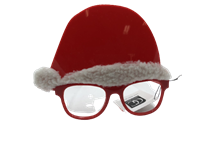 *Glasses Novelty Santa Hat