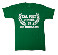 *Close Out Limited Sizes: Tee Laurel Over Go Broncos Kelly Green