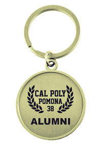 Alumni Key Tag CPP Contemporary Round Gold