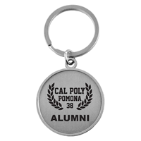 Alumni Key Tag CPP Contemporary Round Silver