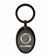 Alumni Key Tag Raised Oval Black