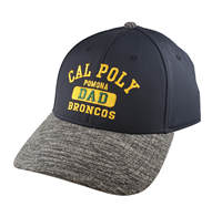 Dad Cap Cal Poly Over Pomona In Bars Stacked Black