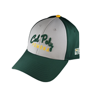 Cap Script Cal Poly Arch Grey And Dk Green