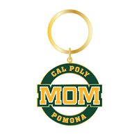 Mom Keychain Round Die-Cut Gold
