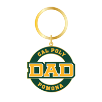 Dad Keychain Round Die-Cut Gold