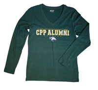Alumni Ls Tee Full Spell Field Green