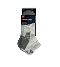 UA Socks Mens Non-Imprint Low Cut 3Pk White