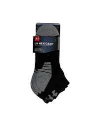 UA Socks Mens Non-Imprint Low Cut 3Pk Black