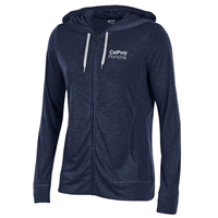 Womens Full Zip Hood Marine Navy