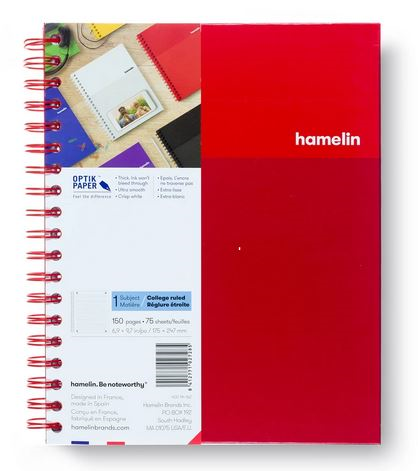 1 Subject Notebook 8 X 10 College Ruled Red (SKU 124113991349)